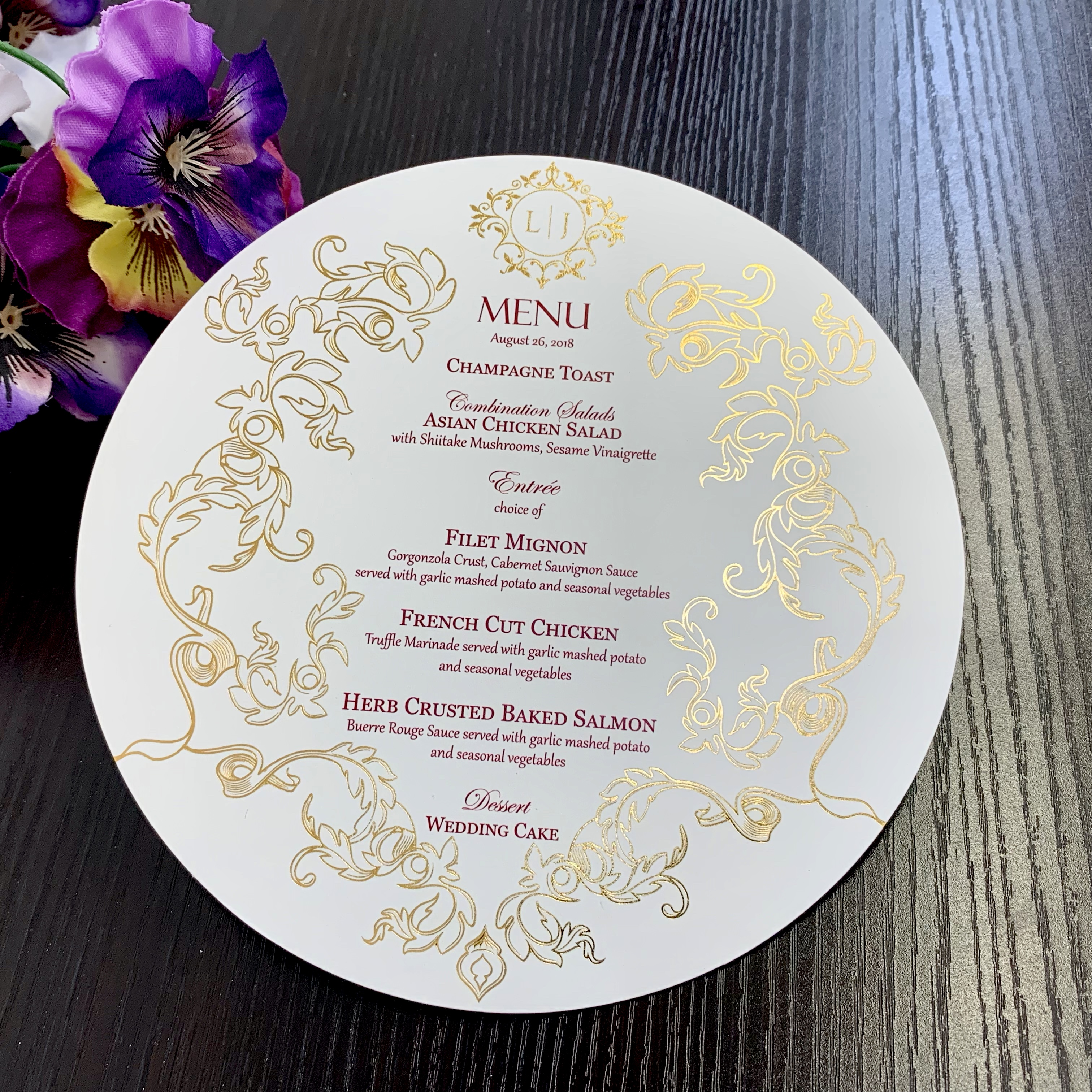cusrtom menus