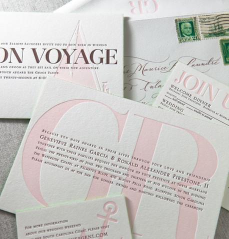 Letterpress invitaiton in New York City