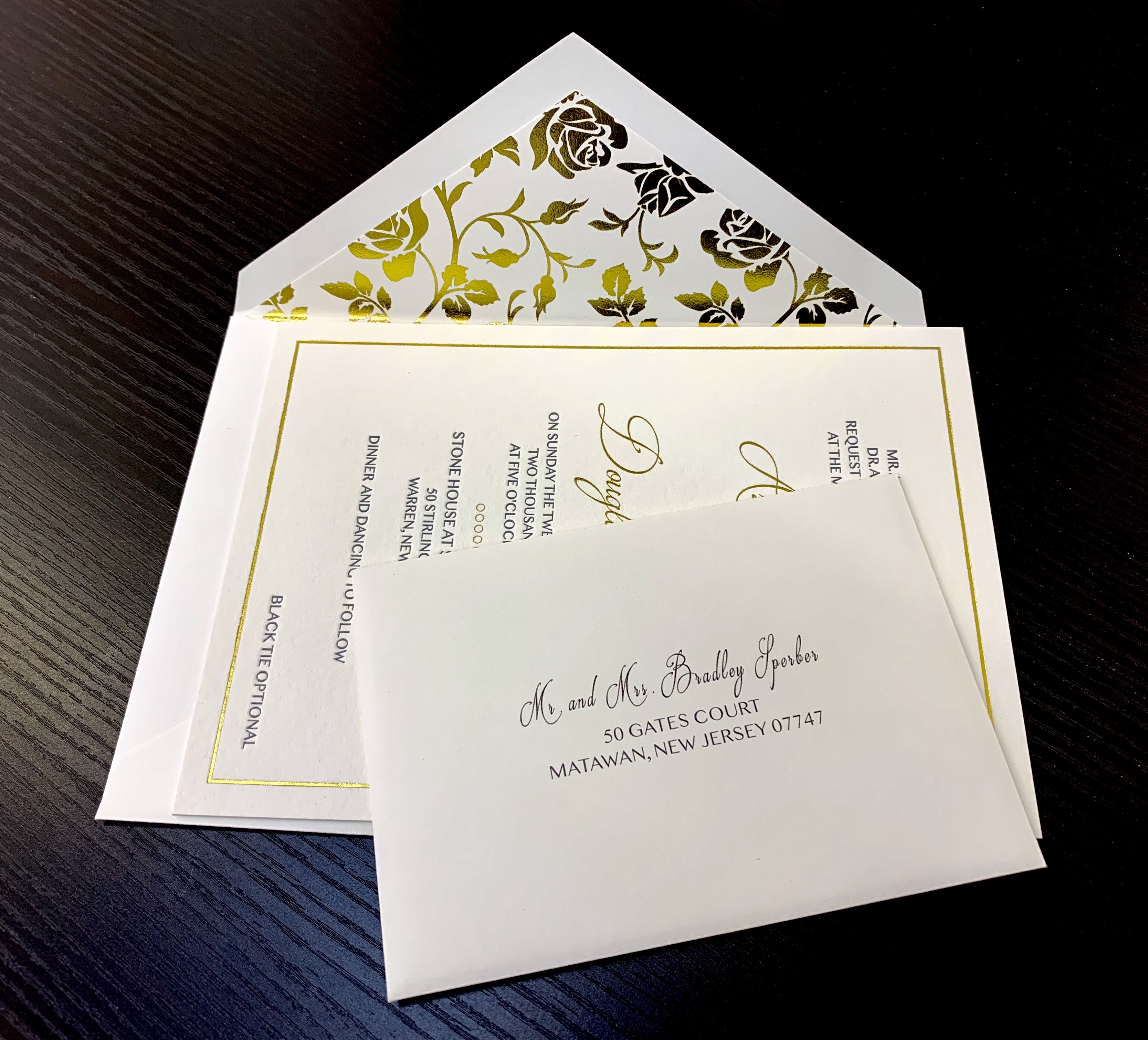 NYC custom foil stamping invitations 2