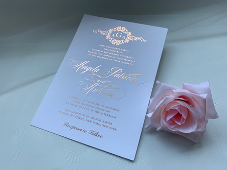 elegant wedding invitations in NYC