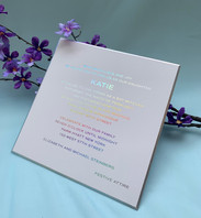 Metallic foil stamping invitations
