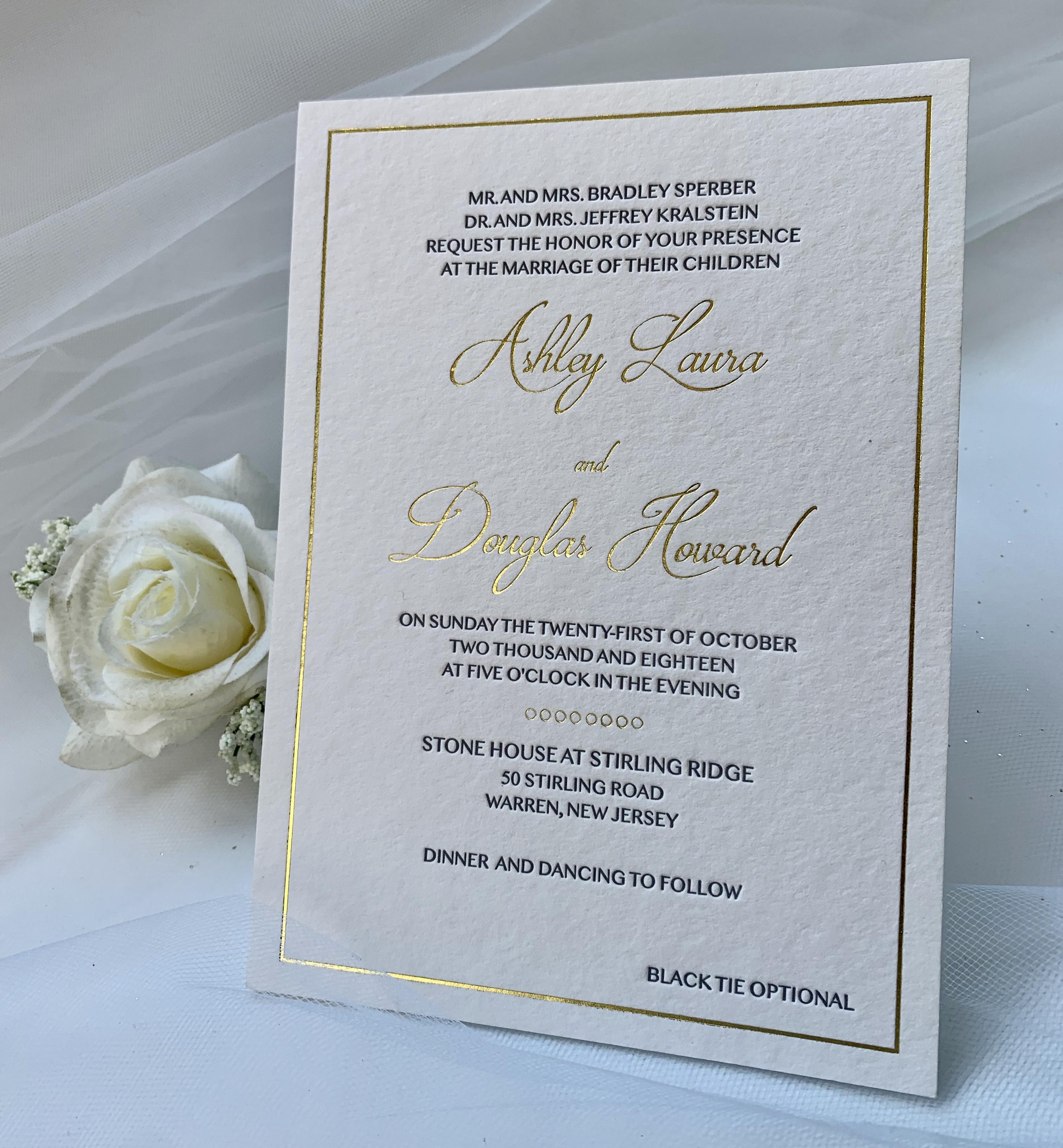 NYC wedding invitation