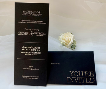 custom foil stamping wedding invitations NYC