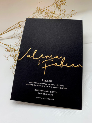 Foil Stamping Wedding Invitations