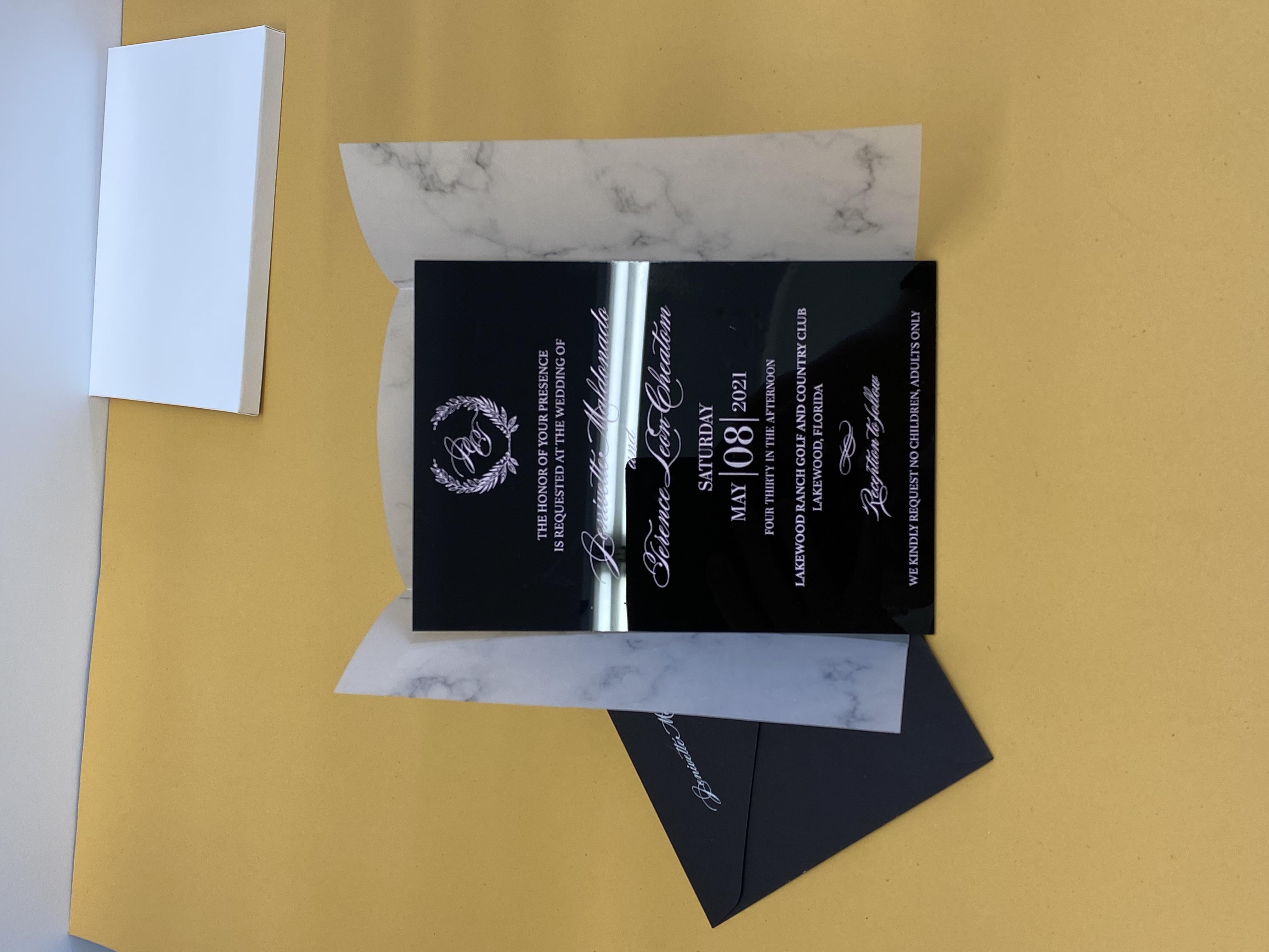 custom acrylic invitations NYC 4