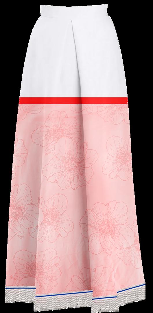 Pink Floral Maxi Skirt