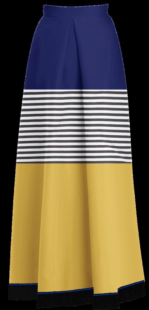 Three Tier Flared Maxi Skirt