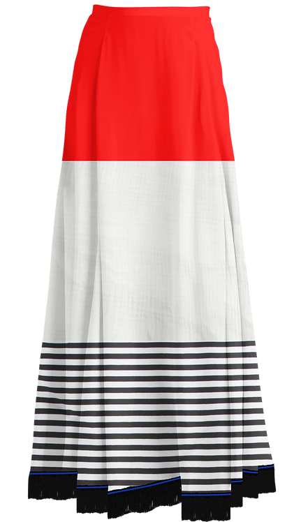 THREE-TIER MAXI SKIRT