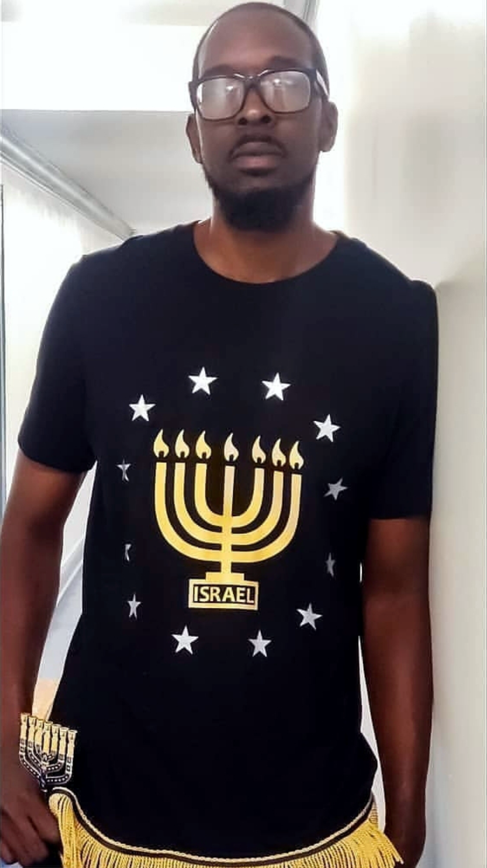 Menorah with Stars tshirt
