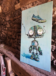 Robot vs Shoe
