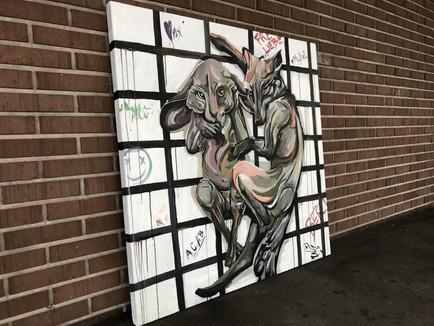 Fuchs küsst Hase