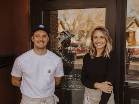 Spotlight on the Owners of Perenn Bakery, Aubrey and Tyler O'Laskey.