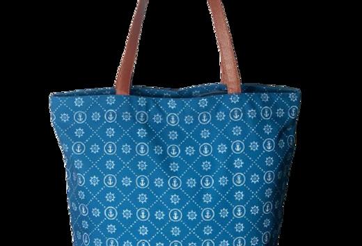 Blue Nautical Tote Bag