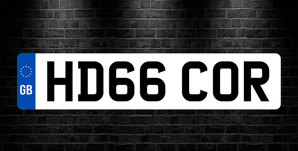 White Front GB Number Plate Sticker