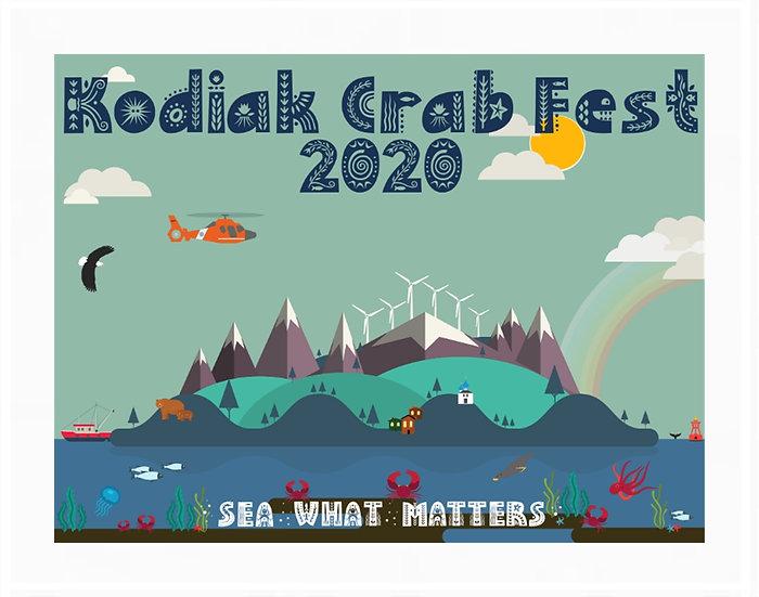 2020 Kodiak Crab Festival Poster byJena Lowmaster