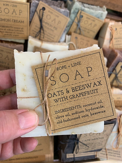 Oats & Beeswax with Grapefruit soap