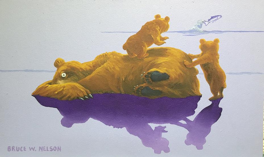 Bear hugs Wake up by Bruce Nelson