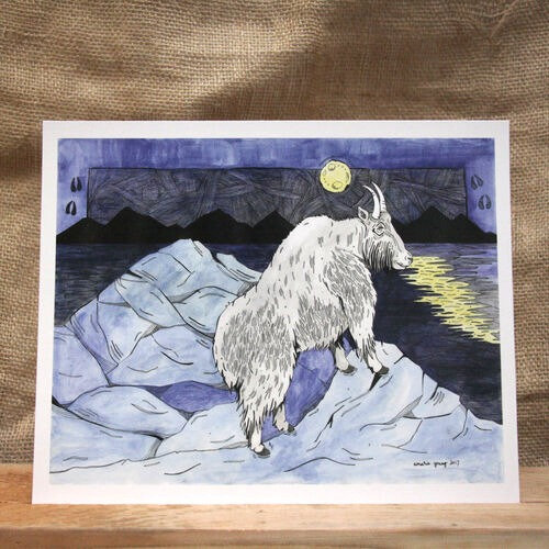 """""""Moonlight Goat"""" by Amarie Young"""