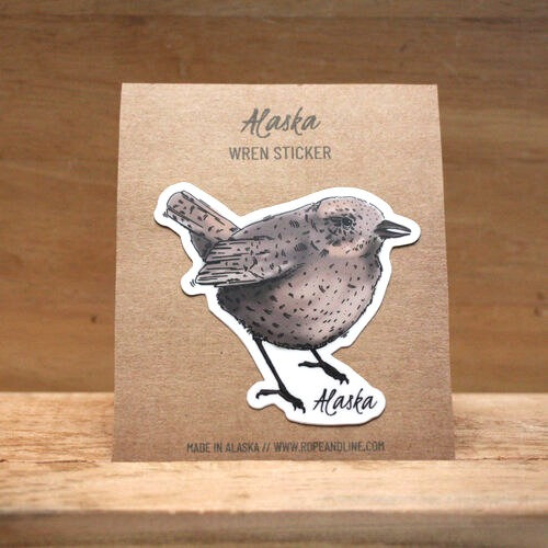"""""""Woodshed Wren"""" sticker by Amarie Young"""