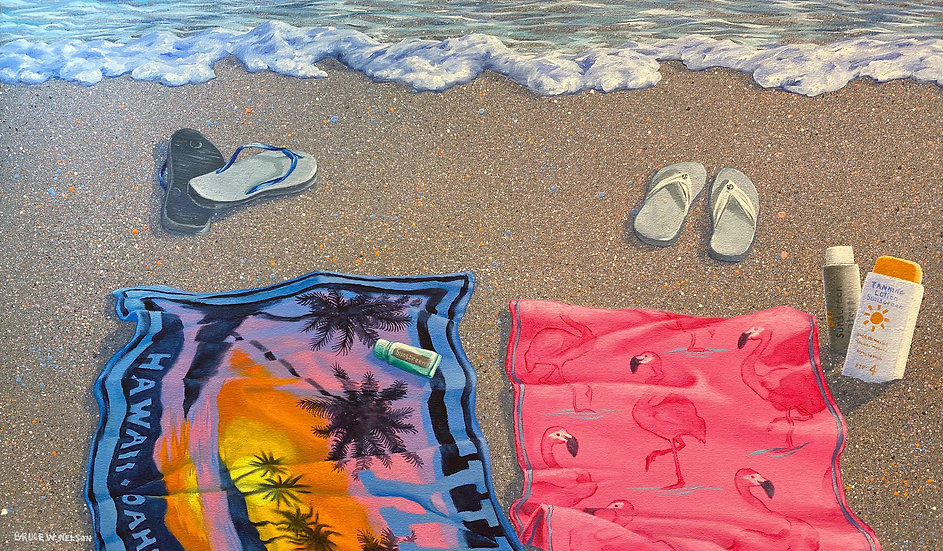 Beach Towels for Two by Bruce Nelson