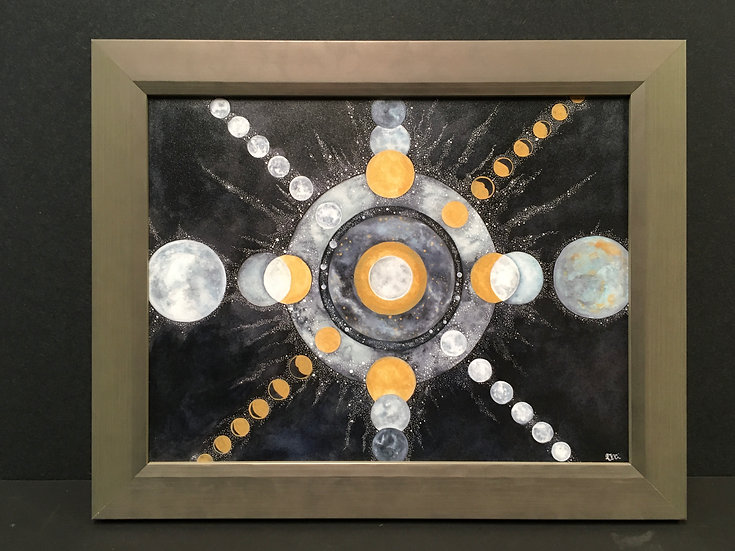 "Framed ""Celestial"" by Angela Toci"