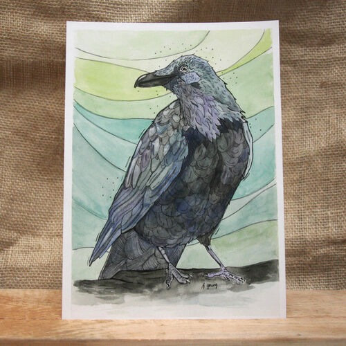 """""""Town Raven"""" by Amarie Young"""
