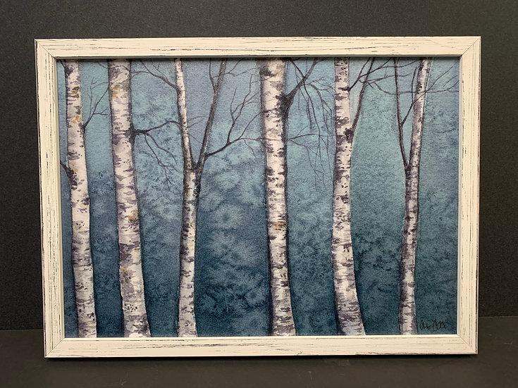 "Framed ""Birch Tree"" by Angela Toci"