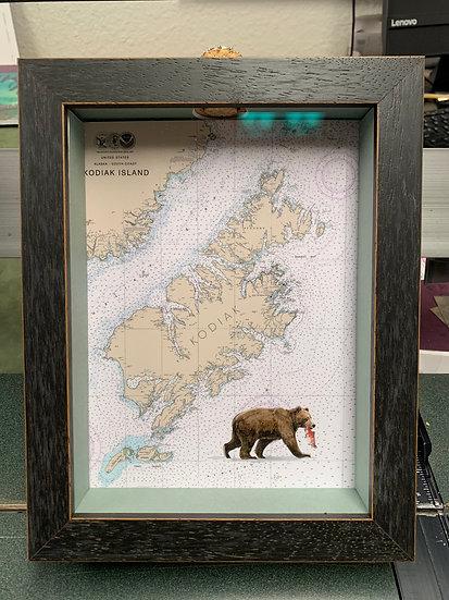 Kodiak Sea Glass Boxes w/ Black Frame