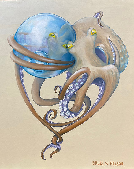Glass Float Lover by Bruce Nelson