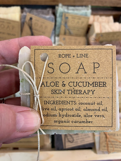 Aloe and cucumber soap