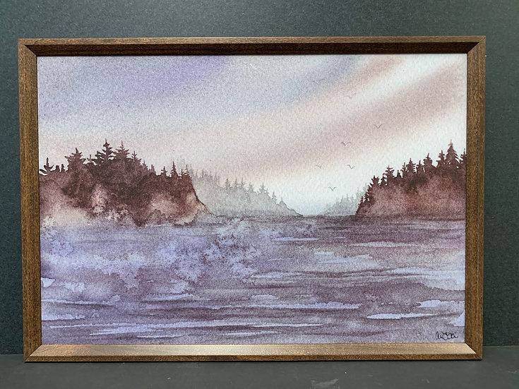 "Framed ""Purple Bay"" by Angela Toci"