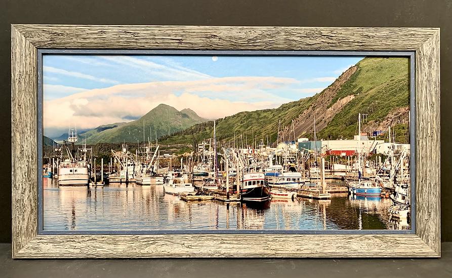 "Framed ""Kodiak Harbor"" by Sylwia Ok"