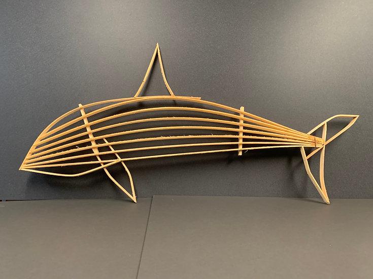 Orca Spruce sculpture by Kodiak Spruce Works & Tony Walker