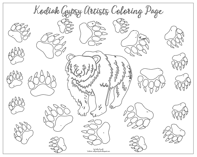 "20x16 coloring page ""Bear!"" by Sally Troxell"