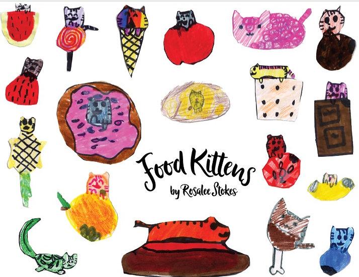 """Food Kittens"" sticker sheet by Rosalee Stokes"