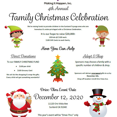 4th Annual Family Christmas Celebration
