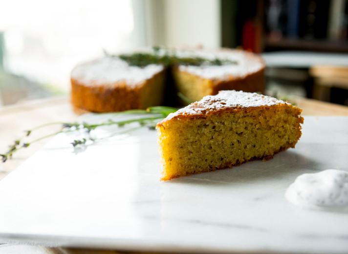 Sliced Olive OIl Cake