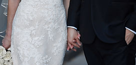 Bride and Groom hold hands in New York City