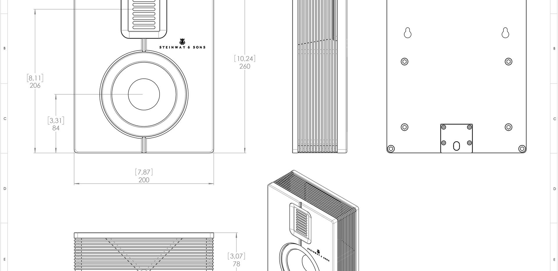 Steinway Lyngdorf Model S-15 чертеж