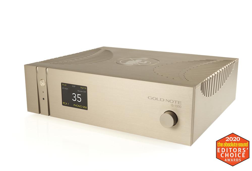 Интегральный усилитель - аудио стример, фонокорректор. Gold Note IS-1000.