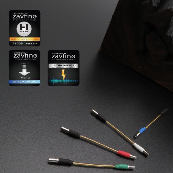 Zavfino CryoGold кабель для шела тонарма, проводники из серебра и золота.
