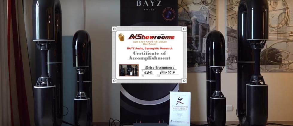 BAYZ аудио награда на hifideluxe.