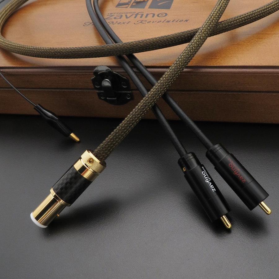 Zavfino Goldrush - лучший фонокабель от тонарма до фонокорректора. Проводники из серебра с золотом. Экран из графена.