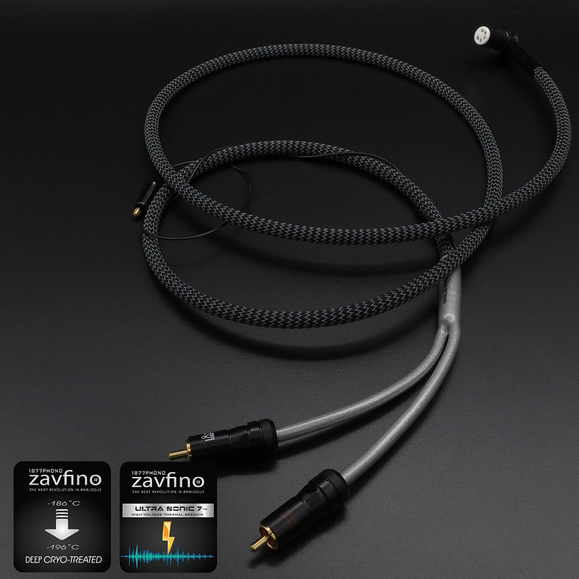 Zavfino Mahone - фонокабель для проигрывателей виниловых пластинок. От тонарма до фонокорректора, улучшает качество звучания.