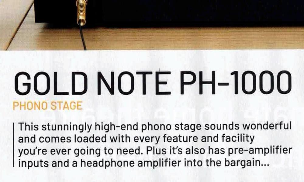 тест фонокорректора Gold Note PH-1000 Line.