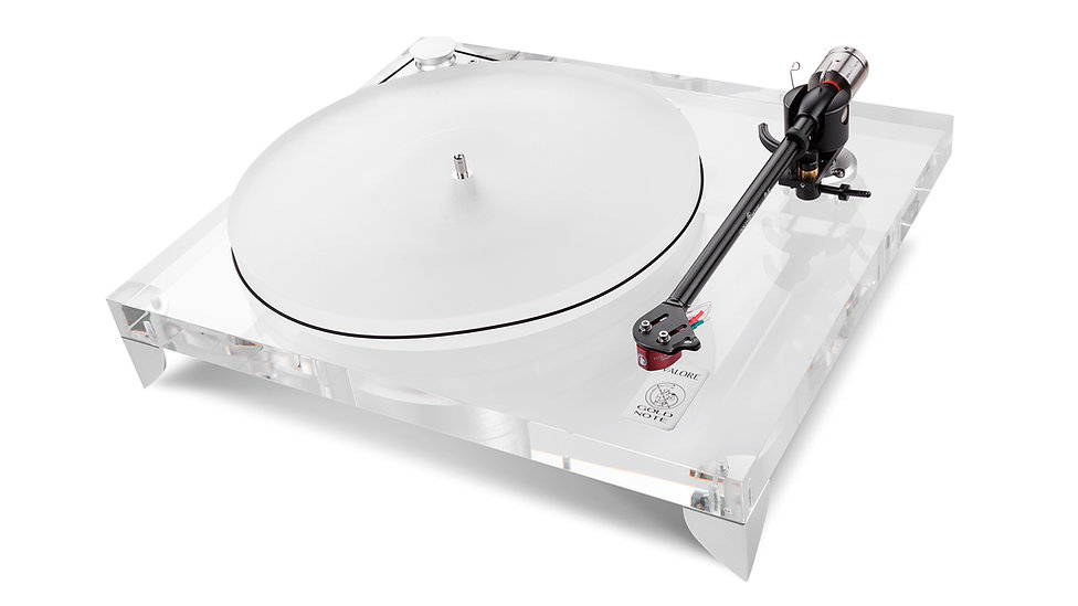 проигрыватель виниловых пластинок из прозрачного акрилла Gold Note Valore 425 Plus