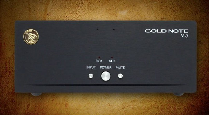 Gold Note M-7 - компактный High-End моноблок