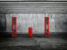 Steinway Lyngdorf Model D стерео система в красном лаке