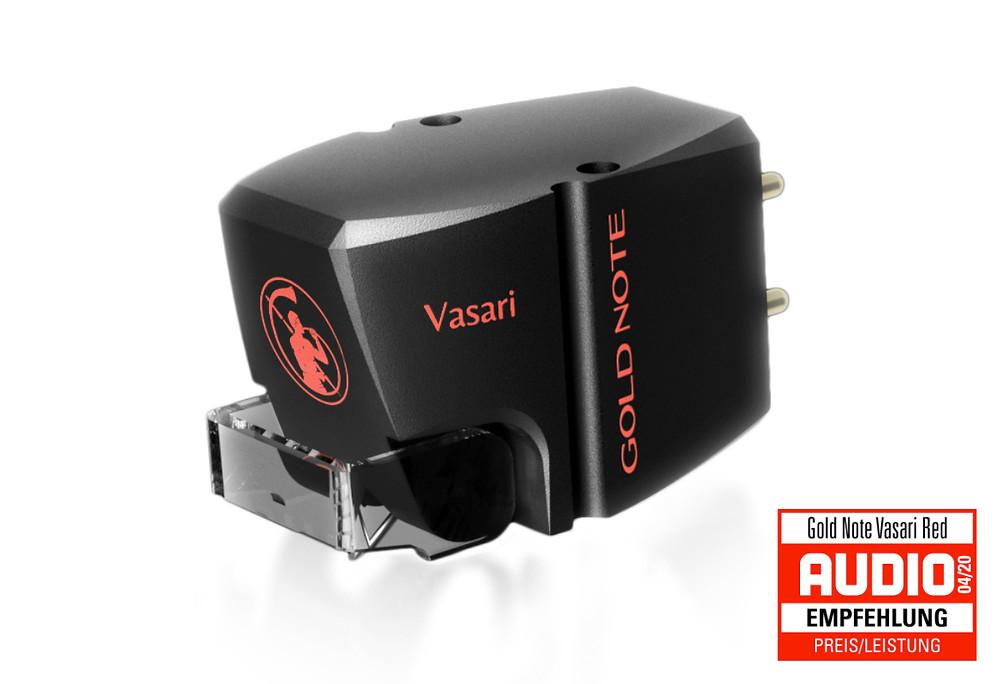 Gold Note Vasari Red - ММ фонокартридж отмеченный наградами в журналах. Головка звукоснимателя ММ для проигрывателя виниловых пластинок.