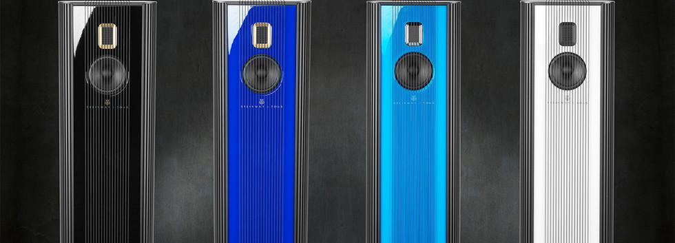 Steinway Lyngdorf Model O в лаке разного цвета.